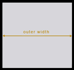 Outer Width